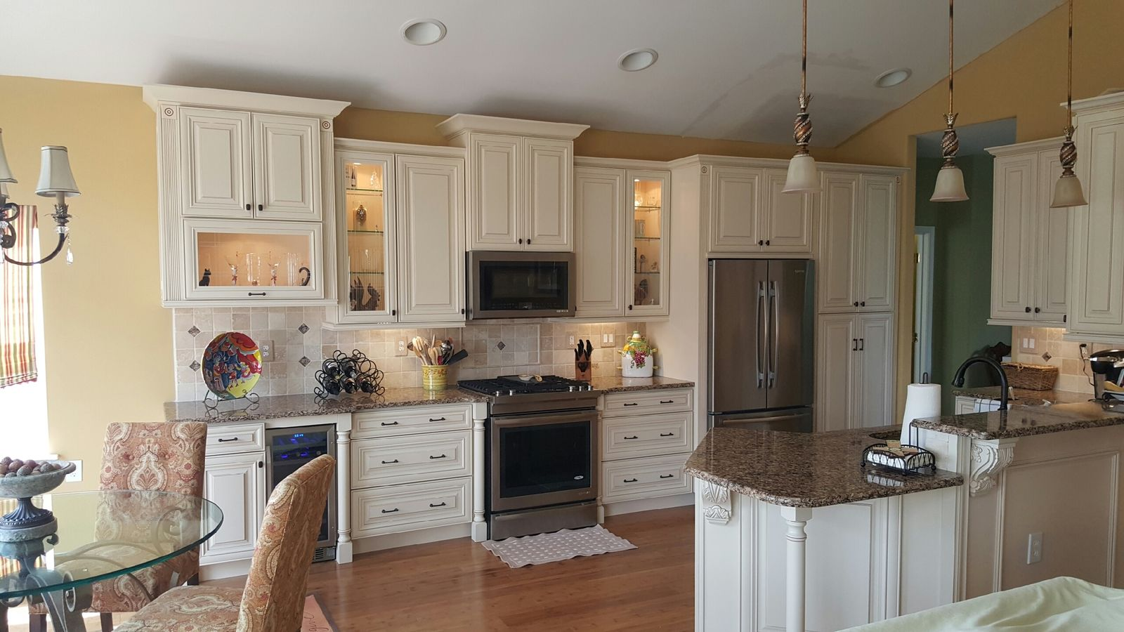 Kitchen Remodel Custom Cabinet island Installation